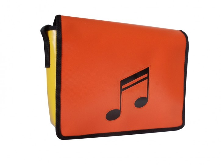 Messenger-Bag mit Motiv 2 Noten Musik
